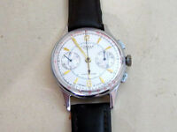 STRELA POLJOT Arrow First Space GAGARIN USSR vintage men's CHRONOGRAPH cal 3017