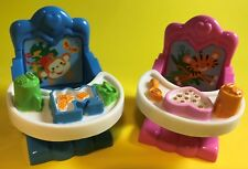LOVING FAMILY DOLLHOUSE MINIATURE FURNITURE BOY GIRL BABY TWINS HIGHCHAIR LOT
