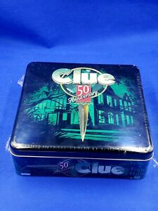 SEALED 1998 CLUE 50th Anniversary Edition Board Game Hasbro Parker Brothers