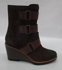 Sorel Womens After Hours Suede Bootie Boots 1757751 Tobacco Size 8