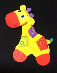 Bright Starts Yellow Giraffe Lovey Teether Soft Toy Baby Security Blanket