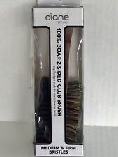 DIANE D8115 100% Boar Bristle 2-Sided Club Brush~Medium & Firm Bristles