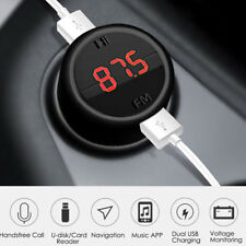 Car Phone USB Dual Port Charger Lighter Wireless Bluetooth FM MP3 Player Adapter