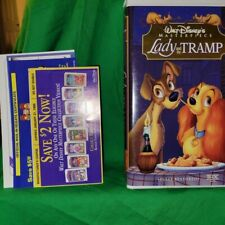 Vintage Lady and the TRAMP 1998 VHS Walt Disney Masterpiece w org. inserts