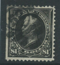 More details for usa 1895 sg279 $1 black type 1 watermark u  straight edge good used. cat £120