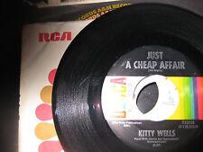 Kitty Wells; Just a Cheap Affair  on 45