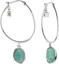 ELLE Jewelry - SUGAR MELON Sterling Silver Amazonite Hoop Earrings