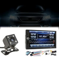 """2 Din 7"""" FM Bluetooth Radio Audio Stereo Car Video Player&HD Camera Touch Screen"""