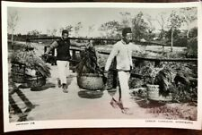 China~1930's Hong Kong~Coolie Carriers Carrying Baskets ~ Rppc