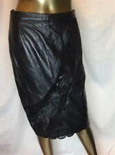 Vintage Shanna Israel Made Soft Leather Skirt Sz40 Fits Sz 4 Us See Pics 💖