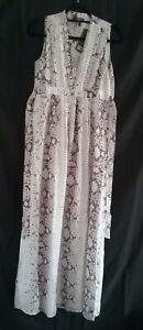 BNWT Womens Maternity Isabella Oliver Silk Snakeprint Maxi Dress Size 1 (8)
