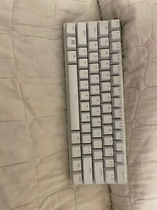 White Razer Huntsman Mini 60% Mechanical Keyboard (Red Clicky Switches)