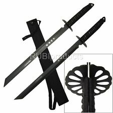 "2Pc Large Full Tang 28"" Ninja Twin Tanto Blade Sword Machete w/ Nylon Sheath"