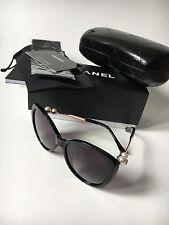 NIB CHANEL CH 5338H Pearl Black/Gold Polarized Sunglasses Frames