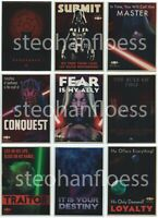 Topps Chrome Star Wars Perspectives Jedi vs Sith Propaganda 1-10 Insert Card Set