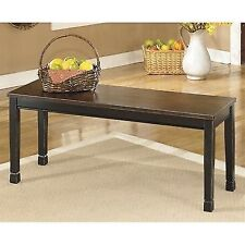 Ashley Owingsville Large Dining Bench Kitchen Benches In Black And Brown