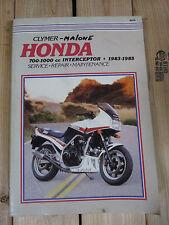 Clymer Honda 700-1000cc Interceptor 1983 1984 1985 Service Repair Manual M349