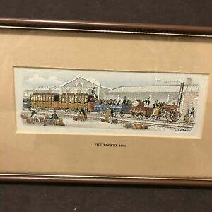 Vintage Cash's delicately woven picture called 'The Rocket 1830' Excellent Cond