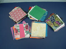 Pre cut fabric squares 4.5 inches recycled and vintage fabric