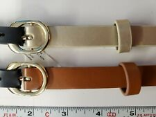 $34 Style & Co Macy's Womens 2 for 1 Skinny Belts Set Brown Gold studded Medium
