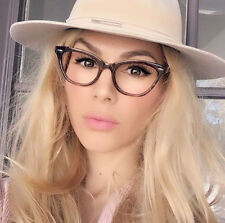 Vintage Retro Style Tortoise BAMBI Clear Lens Women Cat Eye Eyeglasses Eyewear