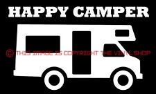 """""""Happy Camper"""" RV Camper, Camping, Vacation, viny decal sticker funny cute"""