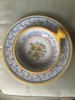 2 Yellow Talavera Pottery Plate And Porringer Mexico Marked 2 Pieces In Lot