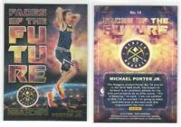 Rare MICHAEL PORTER Jr. Gold Parallel Faces of the Future 2018-19 Hoops Rookie!!