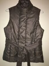 Merona Soft Brown Warm Quilted Vest Dressy Women's Small 6-8