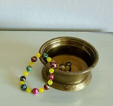Vintage Brass Small Container for Plants/ Trinket Bowl - Crafted in India
