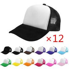 1 DOZEN Snapback Trucker Blank Hat bboy Baseball Caps Wholesale Lot of 12 Hats