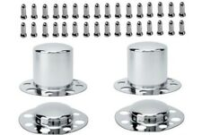 ALCOA DUALLY WHEEL RIM CHROME LUG NUT AND WHEEL RIM CENTER CAP SET 14 x 1.5 MM