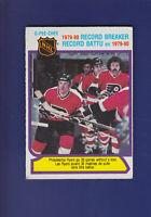 Philadelphia Flyers Record Breaker 1980-81 O-PEE-CHEE OPC Hockey #1 (VGEX)