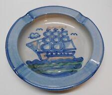 """Boat Ship Ashtray Trinket Dish Candy Dish Potpourri MA Hadley Signed Pottery 8"""""""