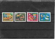 """Germany BRD 1972 Mi 711-714 - """"Jugend: Tierschutz"""" - MNH"""