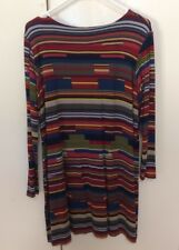 Andiamo Size 12 Multi colour Striped Tunic Top