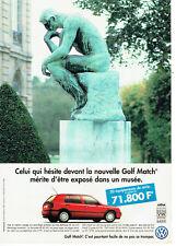 Publicité Advertising 127  1995   la nouvelle Golf Match Volkswagen vw