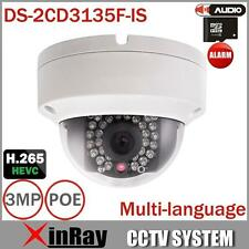 Hikvision DS-2CD3145F-IS Varios idiomas Full HD 4MP Mini Domo POE IP cámara CCTV