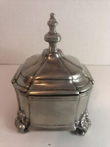⭐️1989 Metropolitan Museum Of Art Pewter Trinket Box 👀