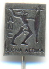 POLITICAL-South Africa-ANC-African National Congress-Yugoslavia made pin  type 2