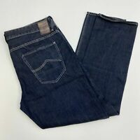 Union Denim Jeans Mens 40R Dark Blue Straight Leg Cotton Blend Medium Washed
