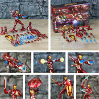 "Marvel 6"" Iron Man MK50 HT Weapons Set Action Figure Ironman Nano Mark 50 85 HOT"