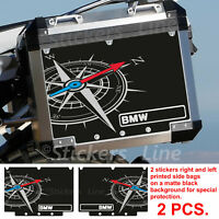 Adesivi valigie BMW R1200 R1250 GS adventure BUSSOLA adv bags stickers BLACK -