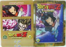 """Dragon Ball Z  """"C17-C18"""" Giochi Preziosi serie GOLD n° 8 lenticolari"""