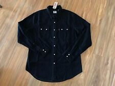 Levi's Western Shirt Men's Black Denim Long Sleeve Pearl Snaps Buttons Up NWT L