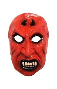 Halloween Mal Brillante Rojo Fanged Diablo Teatro Cosplay Máscara de Látex