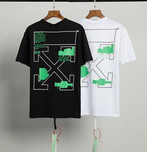 OFF WHITE Green Arrow Fashion Street Wear Casual T-shirts