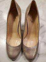 Kate Spade New York Women's Size 8 Shoes Metallic Silver Heels Pumps
