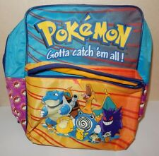 1e17f3490c ANCIEN SAC A DOS CARTABLE POKEMON GOTTA CATCH EM ALL