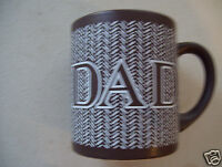 1989 Enesco Dad Brown Coffee Tea Mug Cup